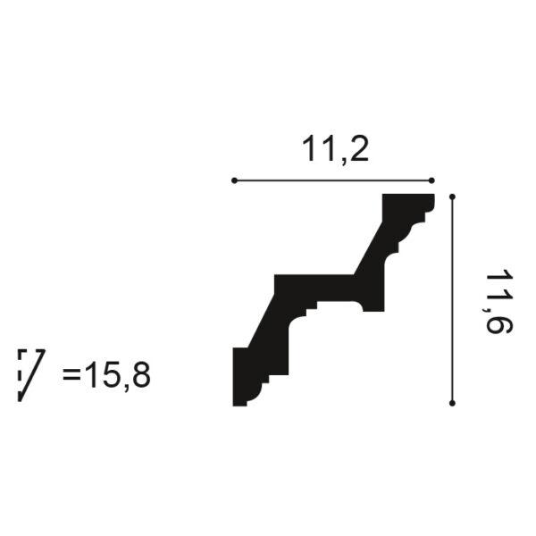 Stropná lišta Orac Decor C211