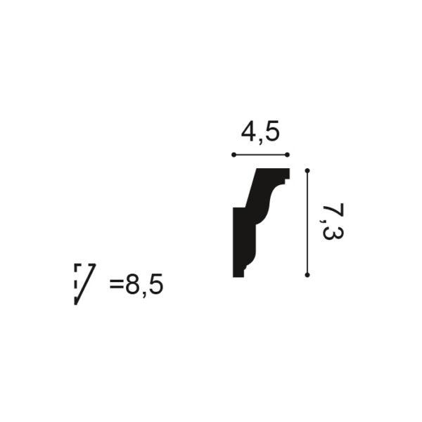 Stropná lišta Orac Decor C212