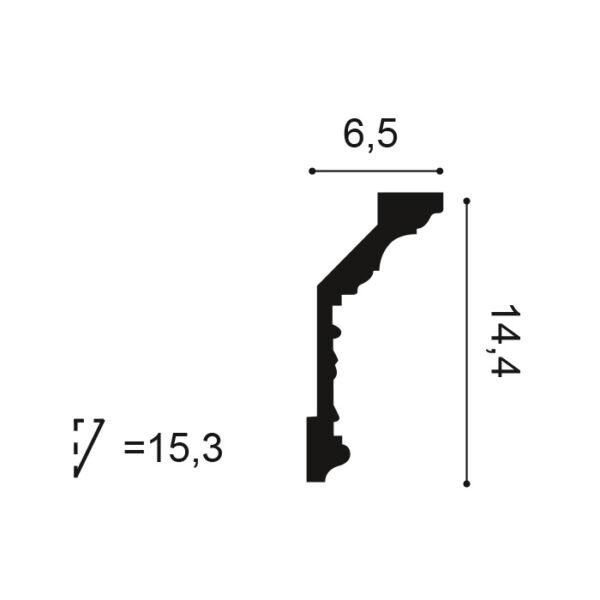 Stropná lišta Orac Decor C303