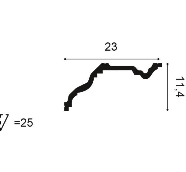 Stropná lišta Orac Decor C322