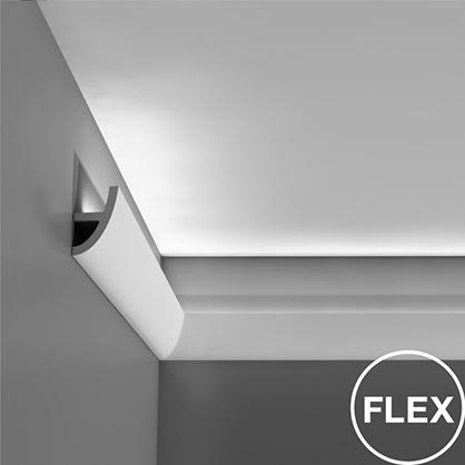 Ohybná stropná lišta pre LED osvetlenie Orac Decor C373F FLEX