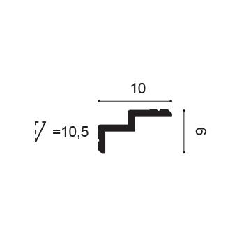 Garnižový profil Orac Decor C390 Steps