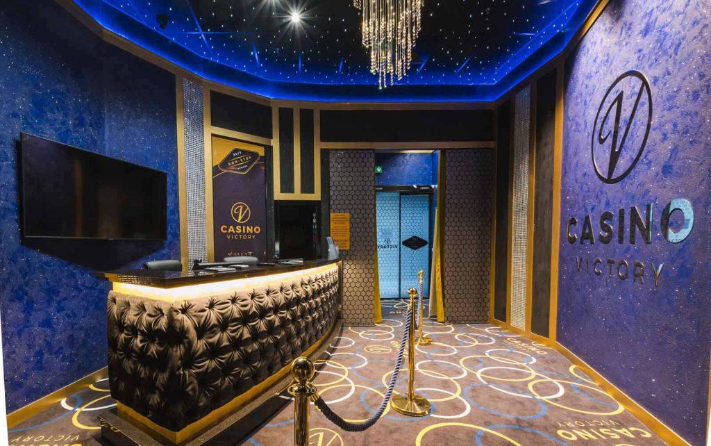 realizácia interiéru kasína VICTORY CASINO v Bratislave.