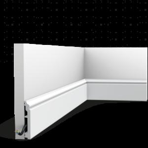Podlahová lišta Orac Decor SX173-RAL9003 CONTOUR