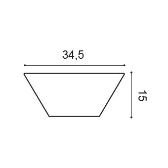 Dekoračný 3D panel Orac Decor W101 - Trapezium
