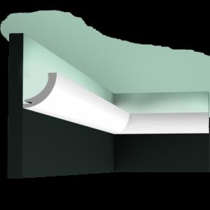Stropná lišta pre LED osvetlenie Orac Decor C362 Curve