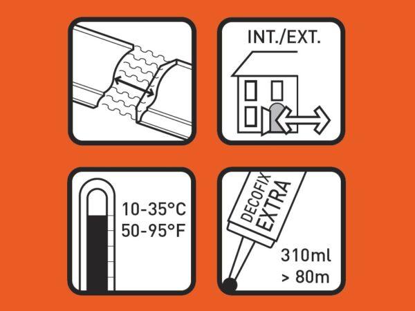 Lepidlo DecoFix Extra FX200 pre spoje líšt 310 ml