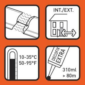 Lepidlo DecoFix Extra FX210 pre spoje líšt 80 ml